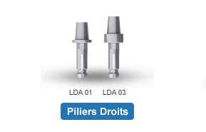 Piliers implantaires Hexalock® - Piliers Droits d'Atoll Implant